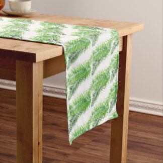 Table Runner-Tropical Palms Short Table Runner