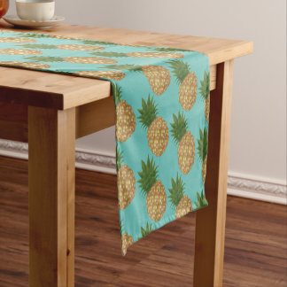 Table Runner-Tropical Pineapples Short Table Runner