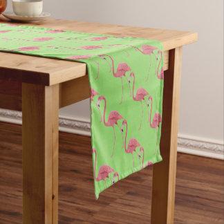 Table Runner-Tropical Pink Flamingo Bird Short Table Runner