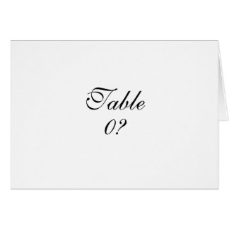 Table seating wedding guest placement CUSTOM Greeting Card