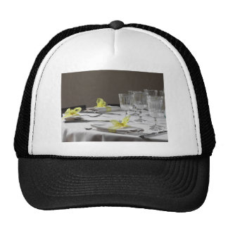 Table setting for Christmas or other event Trucker Hat
