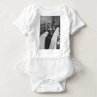 Table settings for a medieval style banquet baby bodysuit