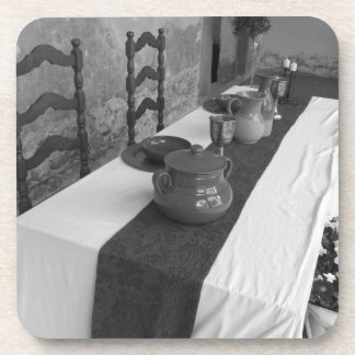 Table settings for a medieval style banquet coaster