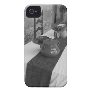 Table settings for a medieval style banquet iPhone 4 cover