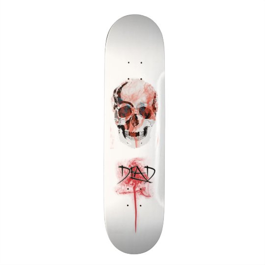 Table skate skull skate deck
