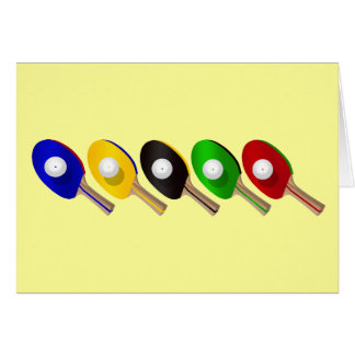 Table Tennis Bat and Ping Pong Ball Sports Card