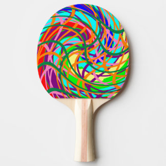 Table Tennis Bat / Paddle. Abstract - Curves. Ping Pong Paddle