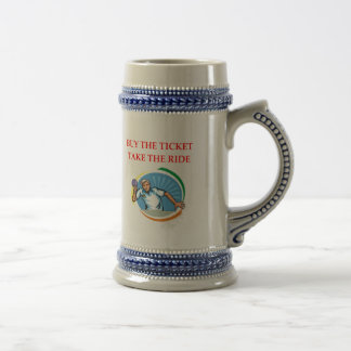 table tennis beer stein