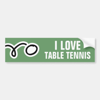 Table tennis bumper sticker for ping pong fans