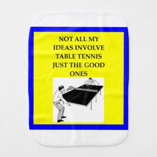 table tennis burp cloth