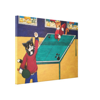 Table Tennis Canvas Print