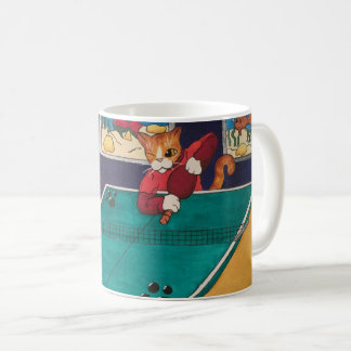 Table Tennis Cats Coffee Mug
