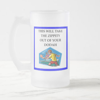 table tennis frosted glass beer mug