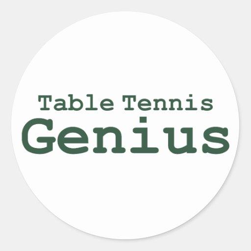 Table Tennis Genius Gifts Sticker