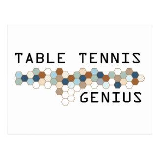 Table Tennis Genius Postcard