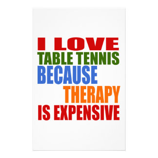 Table Tennis Is My Therapy Stationery