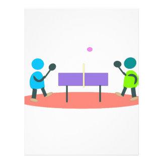 table tennis letterhead