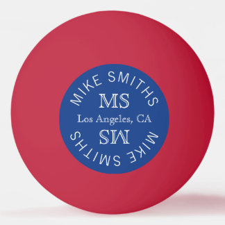 table_tennis monogram, choose the color of the ping pong ball