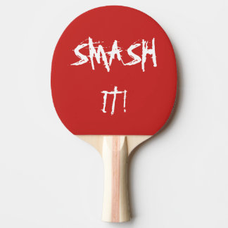 Table Tennis/ Ping Pong bat with slogan Ping Pong Paddle