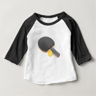 Table tennis racket and ball baby T-Shirt