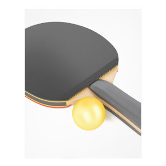 Table tennis racket and ball letterhead