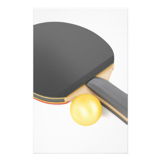 Table tennis racket and ball stationery