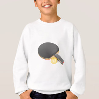 Table tennis racket and ball sweatshirt