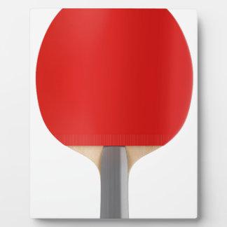Table tennis racket plaque