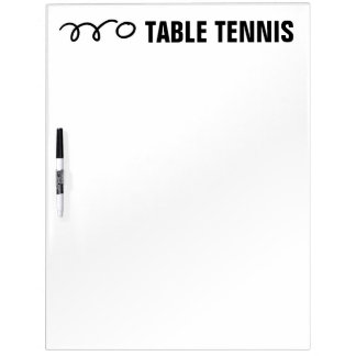 Table tennis scoreboard and training equipment dry erase board