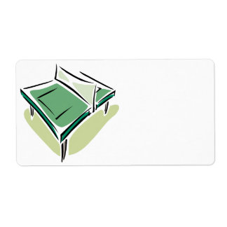 Table Tennis Shipping Label