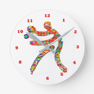TABLE TENNIS Sports Round Clock