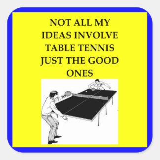 table tennis square sticker
