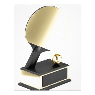 Table tennis trophy letterhead