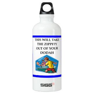 table tennis water bottle