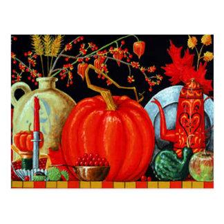 Tableau de fête d'automne cartes postales