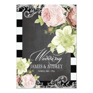 Tableau de PixDezines/roses rococos/vintages Invitations Personnalisées