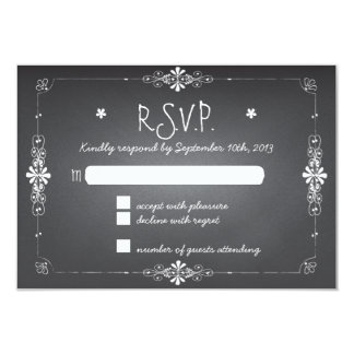 Tableau épousant la carte de réponse de RSVP Invitation Personnalisée