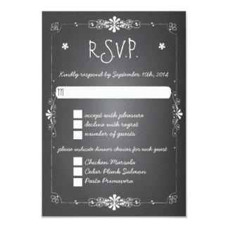 Tableau épousant le dîner de la carte W de réponse Carton D'invitation 8,89 Cm X 12,70 Cm