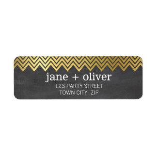 Tableau MODERNE de feuille d'or de motif de Étiquettes D'adresse Retour