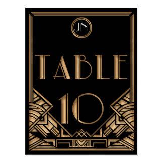 Tableau noir numéro 10 de style de Gatsby d art dé Cartes Postales