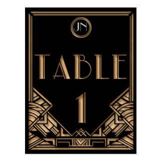 Tableau noir numéro 1 de style de Gatsby d art déc Carte Postale