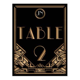 Tableau noir numéro 2 de style de Gatsby d art déc Carte Postale