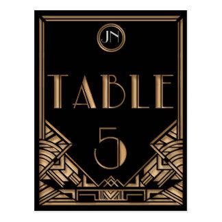 Tableau noir numéro 5 de style de Gatsby d art déc Cartes Postales