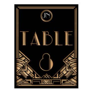 Tableau noir numéro 8 de style de Gatsby d art déc Cartes Postales