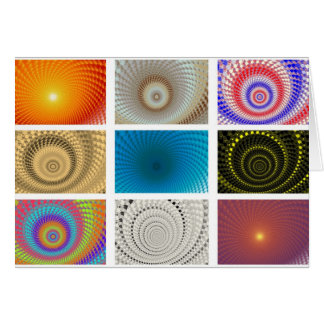 Tableau of Circles Greetings Card