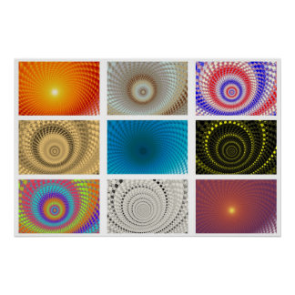 Tableau of Circles Poster