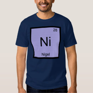 Tableau périodique d'élément nommé de chimie de tee shirts