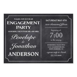 Tableau vintage d'invitations de partie de carton d'invitation  12,7 cm x 17,78 cm