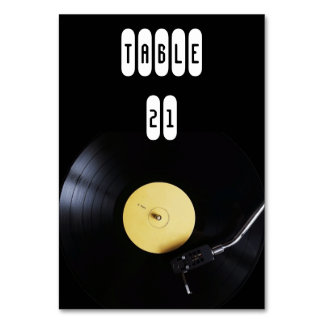TableCard: Vinyl Record on Turntable. Retro theme Card