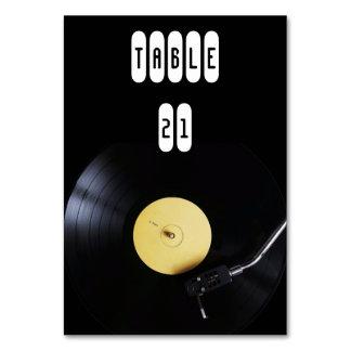 TableCard: Vinyl Record on Turntable. Retro theme Table Cards